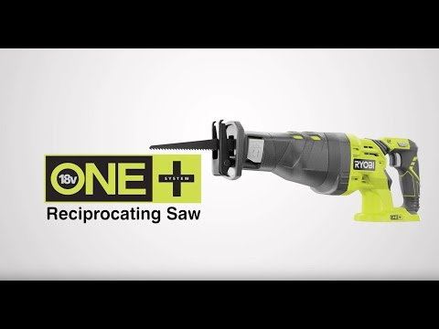Ryobi ONE+ 18V Reciprocating Saw Introduction video