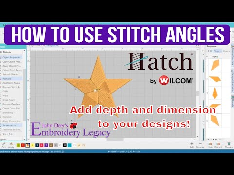 How to Use Stitch Angles - Hatch Embroidery Tutorial - Thủ
