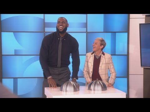 a1a02ed734b2 Exclusive  Ellen Gets a Look at LeBron James  Dance Moves During a  Commercial Break