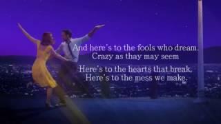 Emma Stone  Audition The Fools Who Dream LYRICS ON SCREEN