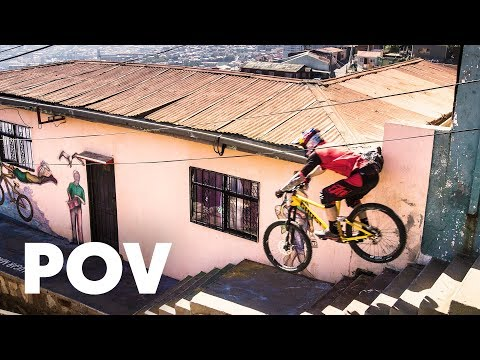 Crazy Winning Urban MTB Run