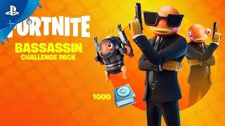 Fortnite - Bassassin Challenge Pack Trailer   PS4