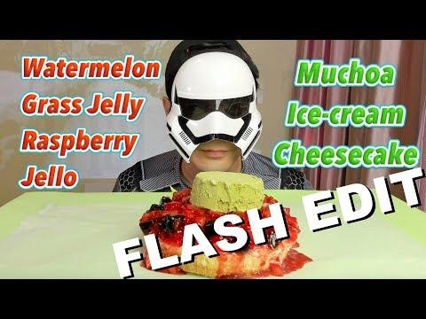 Watermelon Jello Cheesecake MUKBANG [FLASH EDIT] 먹방 Eating Show