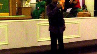 Hassan Darden singing Little Drummer Boy