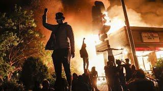 شاهد: تواصل الاحتجاجات العنيفة لليوم الثالث على التوالي في مينيابوليس الأمريكية…