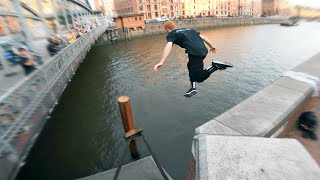 Parkour Water Challenge Hamburg DON'T GET WET