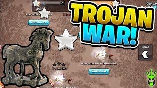 """LAST MINUTE WAR ATTACKS! - Trojan War Event! - """"Clash of Clans"""""""