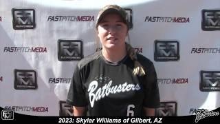 2023 Skylar Williams Catcher and Third Base Softball Skills Video - Arizona Batbusters