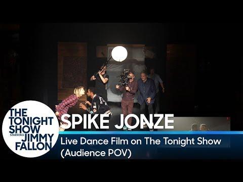 Spike Jonze's Live Dance Film on The Tonight Show (Audience POV)