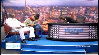 Esther Wahome unable to contain herself from Pastor Man Kush's jokes on religion  (UNEDITED VERSION)