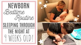 NEWBORN BABY BEDTIME ROUTINE | Sleeping Through The Night! | Jessica Elle