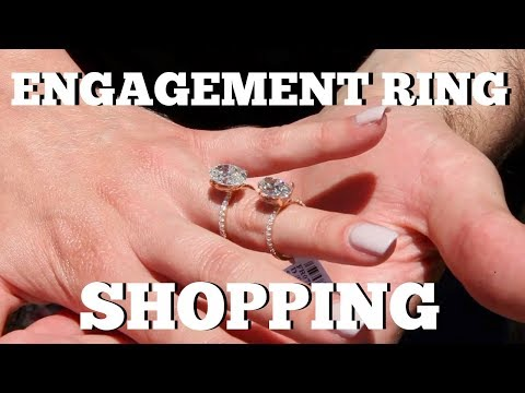 ENGAGEMENT RING SHOPPING: Finding the perfect engagement ring - Freddie & Alyssa VLOG #013
