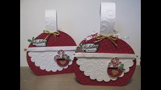 Mrs. Claus Suit - Apron Treat Box / Gift Box #7 Jingle Jangle In July Christmas Series {2020}