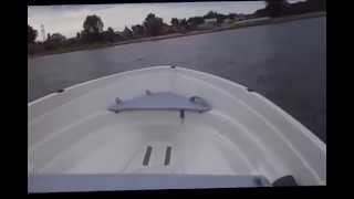лодочный мотор honda 15лс и лодка terhi sea fun
