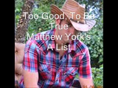 Too Good,To Be True video - Matthew Yok's A List