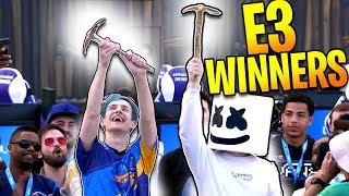 NINJA & MARSHMELLO WIN THE E3 CHARITY FORTNITE TOURNAMENT - BEST HIGHLIGHTS