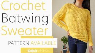 EASY Crochet Batwing Sweater | Pattern & Tutorial DIY