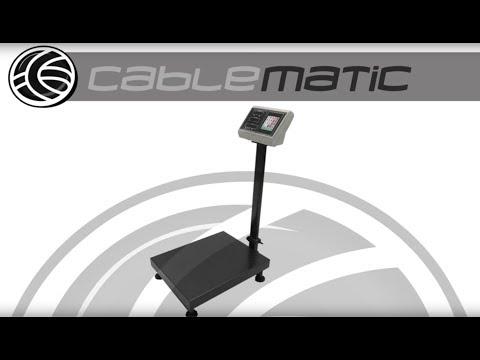 Balanza industrial de plataforma - distribuido por CABLEMATIC ®