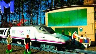 Супер Поезд и железная дорога Видео про поезда игрушки для детей