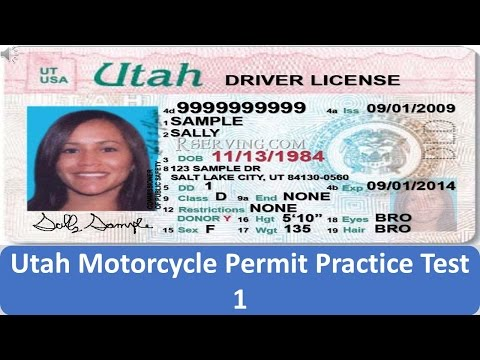 Utah Motorcycle Permit Practice Test 1 download YouTube