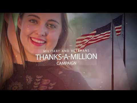 Military & Veterans Thanks a Million Campaign