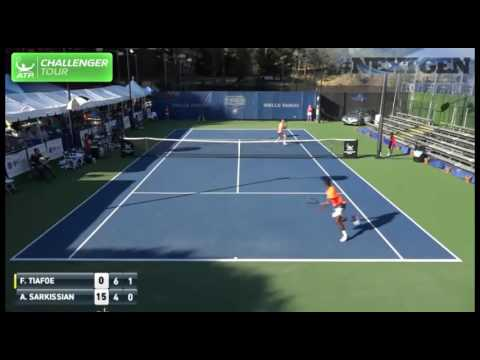Tiafoe Fires Stunning Running Hot Shot At Tiburon Challenger