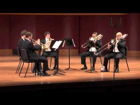 William's brass quintet plays Morning Music by David Sampson