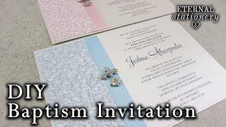 DIY Embossed Baptism/Christening Invitation | DIY Invitations in Microsoft Word