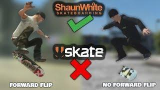 Shaun White Skateboarding: TRICKS YOU CAN'T DO IN EA SKATE