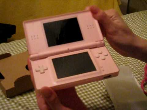 Nintendo DS Lite Coral Pink opening..