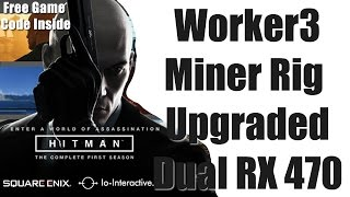 Worker 3 Mining Rig Upgraded to Dual RX 470 Graphics Cards