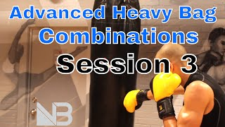 Advanced Heavy Bag Combinations | Session 3 by NateBowerFitness