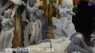 Shops for Stone Sculptures at Mahabalipuram, Chennai