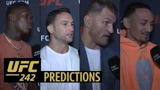 Khabib vs Poirier predictions! | Adesanya, Holloway, Stipe, and more weigh in on UFC 242 main event