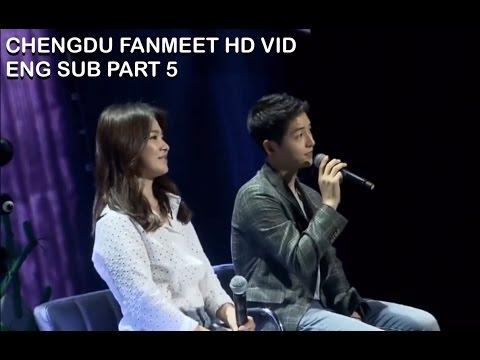 [ENG SUB] Song Joong Ki & Song Hye Kyo in Chengdu Part 5 (SHK thanks fan for loving SJK)