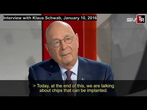 Geïmplanteerde microchip, Klaus Schwab, World Economic Forum en The Great Reset