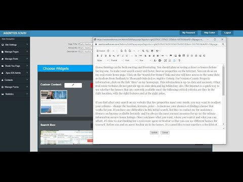 How to Use the Custom Content Widget and Create a New Page