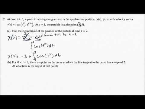 2015 AP Calculus BC 2a (video)   Khan Academy