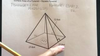 How to find the Surface Area of a Square Pyramid