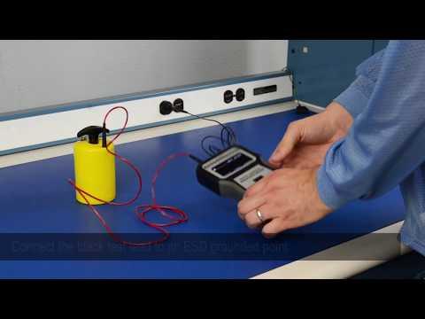 Desco Digital Surface Resistance Meter - Operations