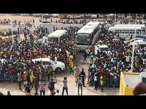 L'entre des lionne pour la finale basket Sénégal Nigeria 2019