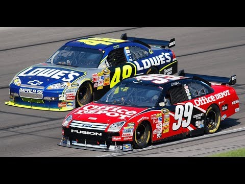 Carl Edwards and Jimmie Johnson put on a show at Kansas Speedway | This Moment in NASCAR History