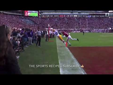 Is this a catch by Thaddeus Moss (Randy Moss's son)? LSU vs Alabama - must watch!