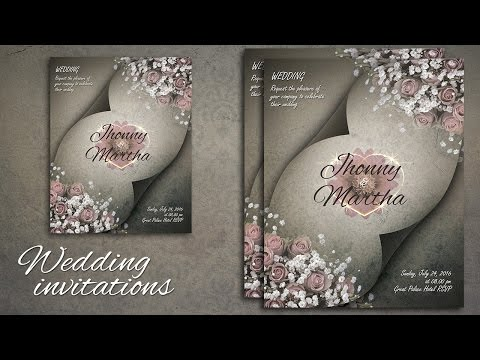 Photoshop Tutorial - Make A Beautiful Wedding Invitations