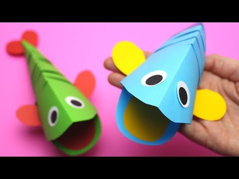 Làm con cá từ bìa màu