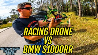 RACING DRONE vs S1000RR! Who is Faster? YOU JUDGE!