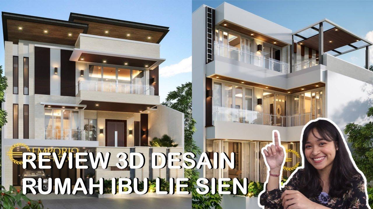 Video 3D Desain Rumah Modern 3 Lantai Ibu Lie Sien di Jakarta Barat