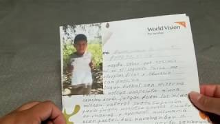New letter from my sponsor child Cristian