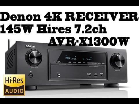 Denon HIFI 4K RECEIVER - 145W Hires 7.2ch - 4K Ultra HD AVR-X1300W comparison with AVR-X520BT