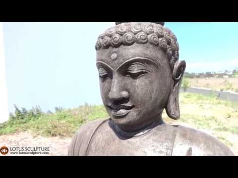 Earth Touching Buddha Statue Stone 42